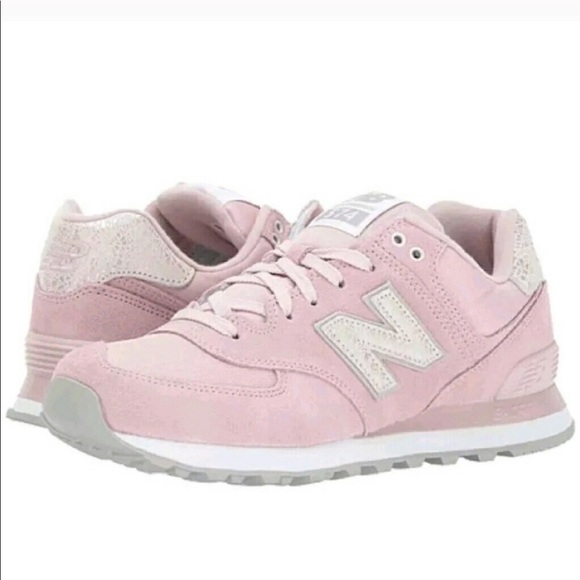 New Balance 574 Pink Suede Shattered